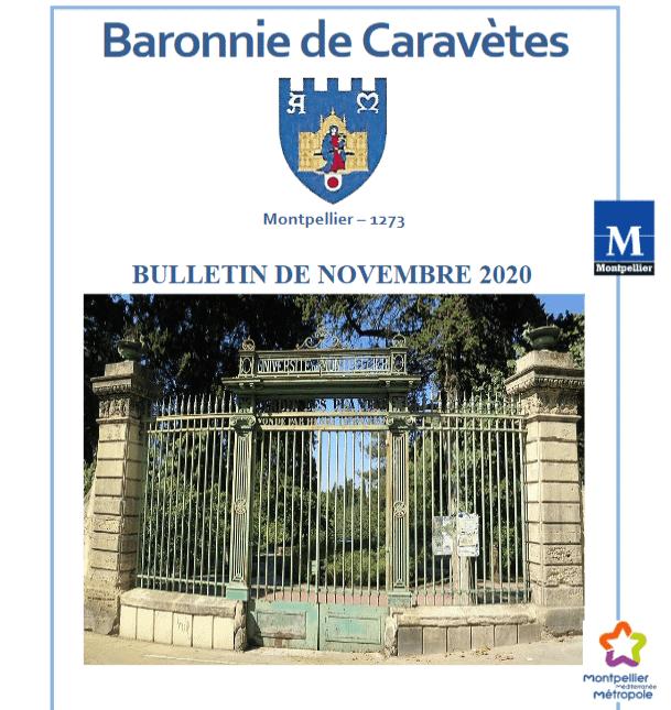 Bulletin Les Barons de Caravètes   Novembre 2020